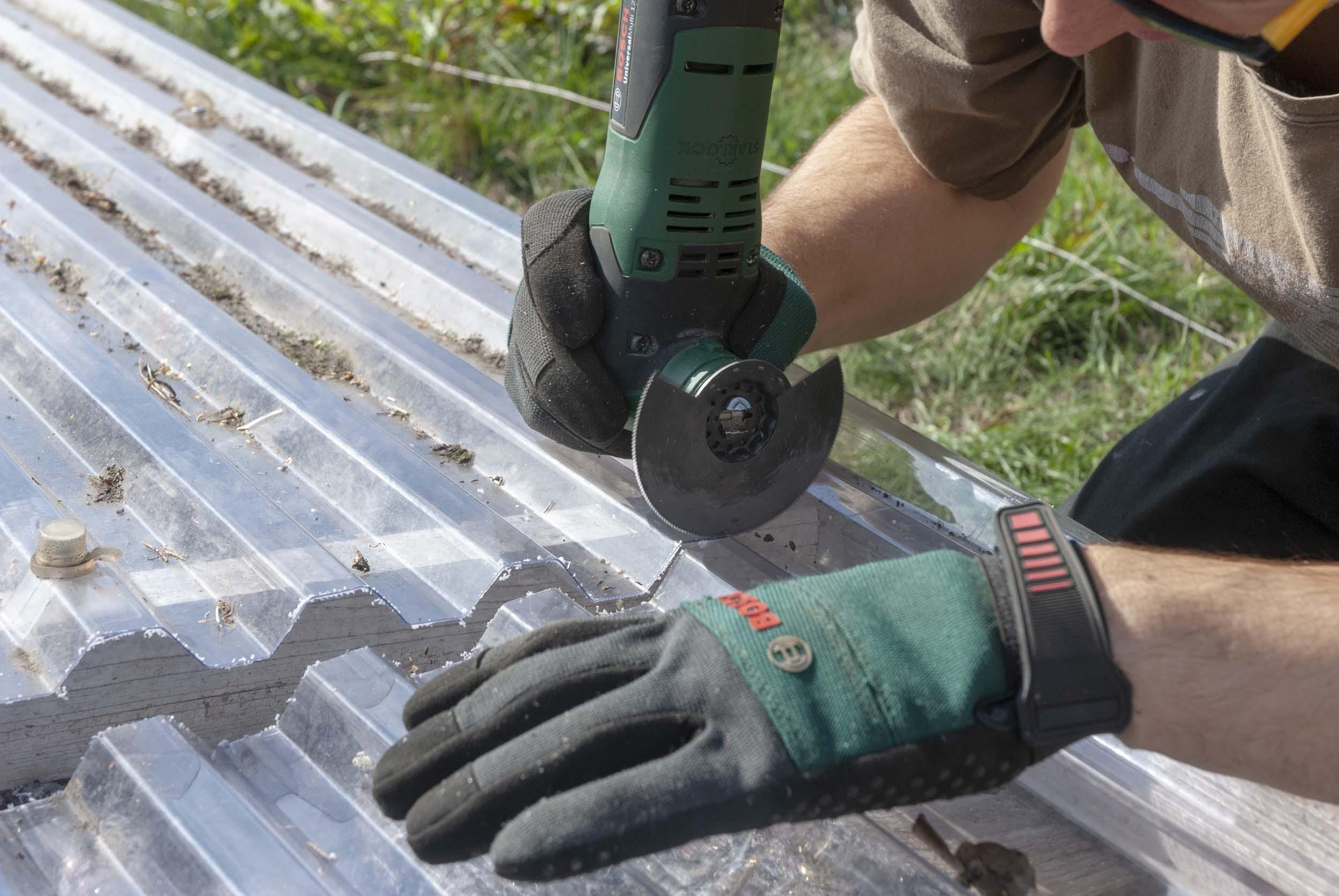 Bekannt gewaechshaus-selbst-bauen-wellplatte-schneiden – Ein Stück Arbeit LU26